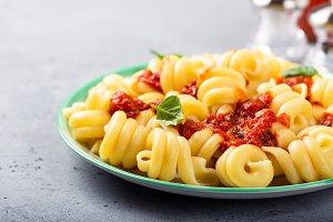 Homemade whole grain pasta Trattole