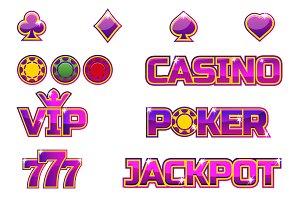 Vector set purple logo JACKPOT