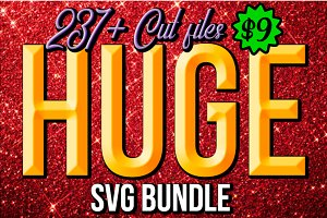 HUGE 237+ SVG Bundle