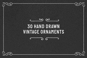 30 vintage hand rawn vintage ornamen