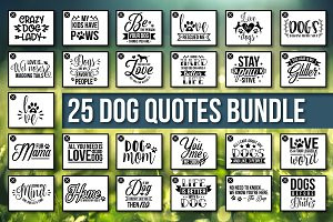 HUGE Dog Quotes SVG Bundle