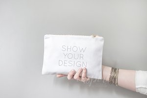 Cosmetic Make Up Bag Mockup PSD +JPG
