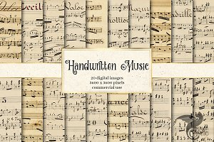 Handwritten Music Digital Paper