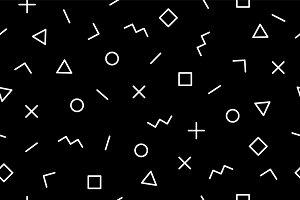 Pattern. Seamless memphis geometric