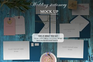 Mock Up - wedding stationery