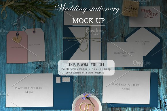 Mock Up - wedding stationery