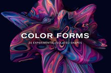 Color Forms: 20 Experimental Shapes by  in Textures