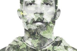 Bearded man portrait.