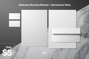 Stationery Branding Mockup - A4