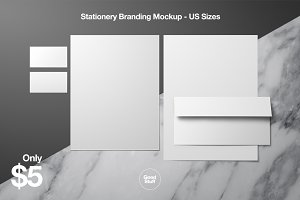 Stationery Branding Mockup - US