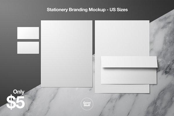 Stationery Branding Mockup - US