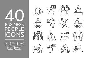 40 Business People Icons