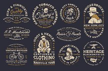 10 Vintage industrial Badges/Logos