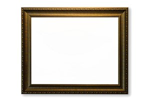 Decorative vintage gold frames