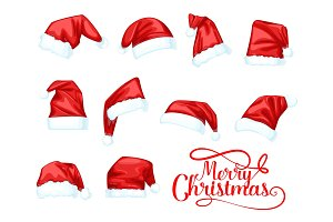 Merry Christmas Santa Claus hats