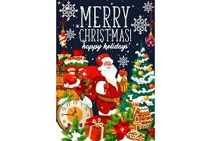 Christmas Santa and gifts bag