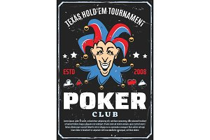 Poker club tournament, joker vector