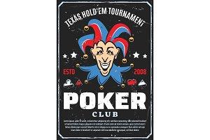 Poker club tournament, joker vector