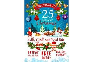 Merry Christmas fair invitation