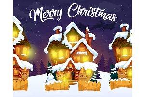Merry Christmas, night village