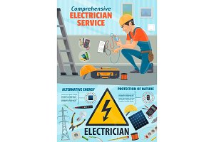 Electricity service, electrician