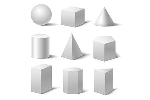 Realistic Detailed 3d Basic Shapes