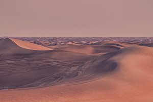 Beautiful sand dunes in the desert.