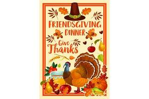 Holiday. Friendsgiving turkey