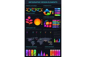 Infographic vector design elements