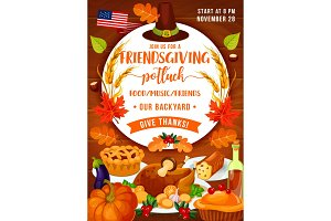 Thanksgiving dinner and potluck
