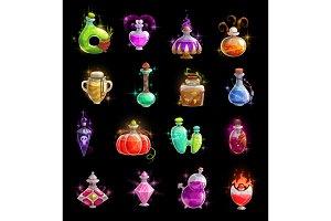 Halloween potion, elixir and poison