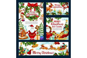 Christmas holiday greeting, Santa