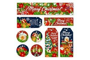 Christmas gift tag and greeting