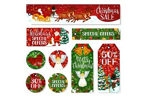 Christmas winter holiday labels