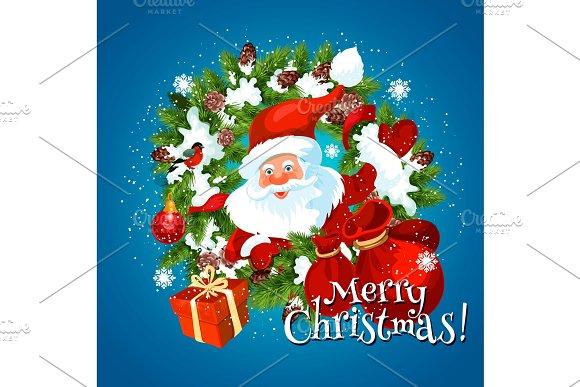 christmas holiday greetings santa illustrations - Christmas Holiday Pictures