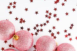 Glitter ball Christmas ornament