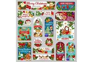 Christmas tags or label of holiday