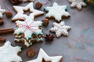 Christmas homemade gingerbread cooki