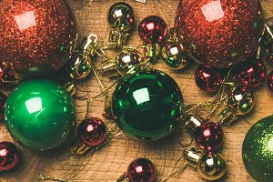 Christmas tree decoration balls on