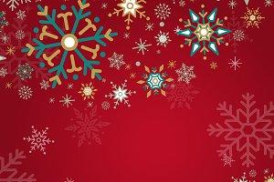 Red Christmas winter snowflake