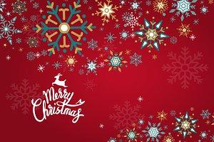 Merry Christmas winter holiday