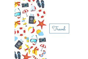 Vector travel elements background