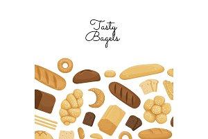 Vector cartoon bakery elements