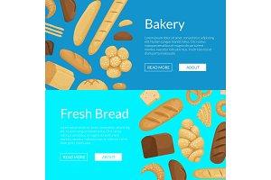 Vector cartoon bakery elements web