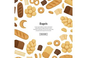 Vector cartoon bakery elements