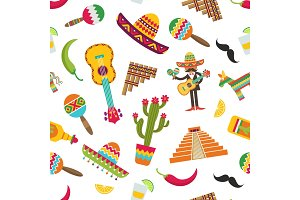 Vector flat Mexico attributes
