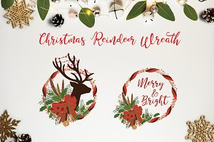 THE CHRISTMAS REINDEER WREATH