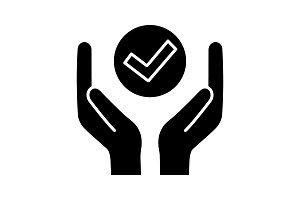 Quality services glyph icon