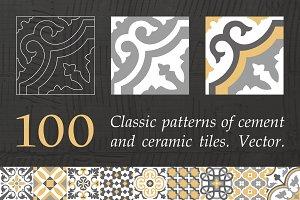 Pattern tile. Seamless. Vector.