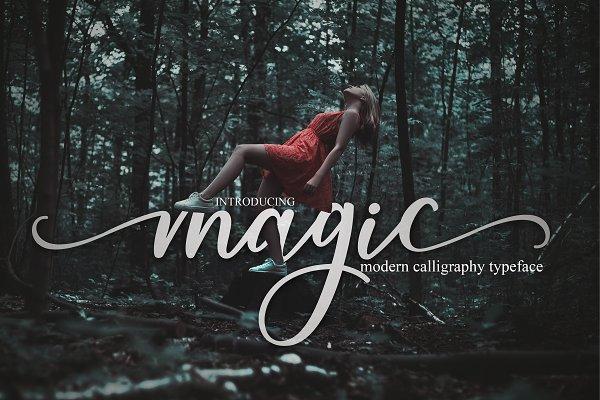 Script Fonts: MrLetters - magic script